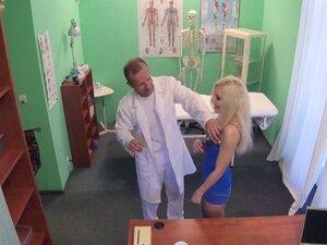 Slim slutty blonde fucks in hospital