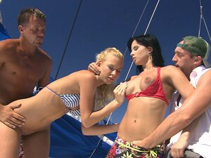 Group sex with sexy Angelina Love and hot Renata