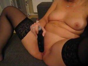 Solo horny granny masturbating and rubbing her
