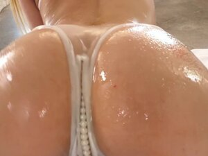 LUBED Multiple oil dripping chicks blasted by