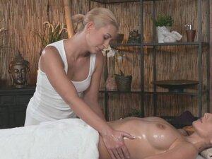 Massage Rooms Hot Czech lesbian gives big boobs