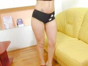 Laura sucks off a stud who fucks her pussy hard on
