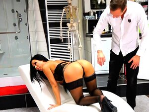 german latina fake tits hooker punished by doctor