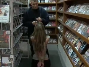 SLUT MOTHER GETS USED IN ADULT STORE,