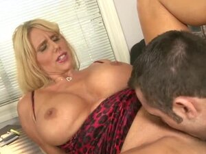Karen Fisher the hot blonde cougar gets her pussy