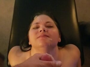 Amateur Girlfriend Facial Cumpilation