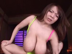 Hitomi Tanaka hot Asian milf with huge boobs in