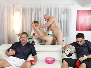 Gigi Flamez in Superbowl Party - FamilyStrokes, It