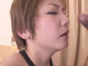 Busty MILF Meguru Kosaka Gets Her Shaved Pussy