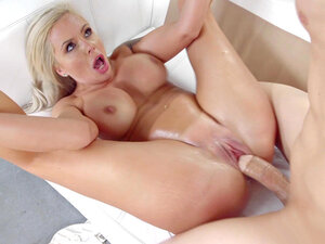 Beautiful mom with huge breasts Nina Elle took a