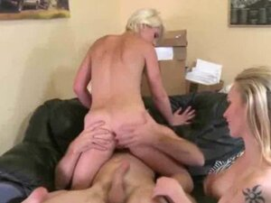Short Haired Blonde Riding Dick In Money Talks