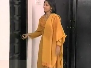 young indian desi teen takes a shower,