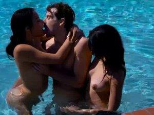 Maya Bijou and Sophia Leone share one cock in