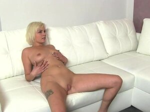 FakeAgent Hot young blonde has tiny tight shaved