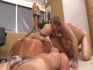 Delightsome Dominant-Bitch use two slaves for his