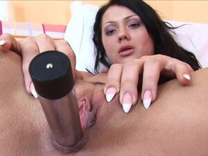 Teen Shows her Pulsating Vagina Up Close, By