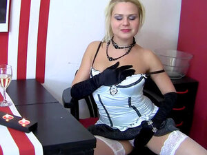 Satin gloves and lingerie are sizzling hot